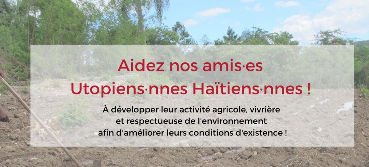 Aidez nos amis·es Utopia Haïti !