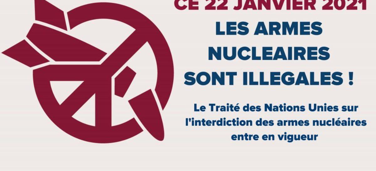 [COMMUNIQUÉ] – Entrée en vigueur du Traité sur l'interdiction des armes nucléaires : la France prend le risque de l'apocalypse nucléaire !